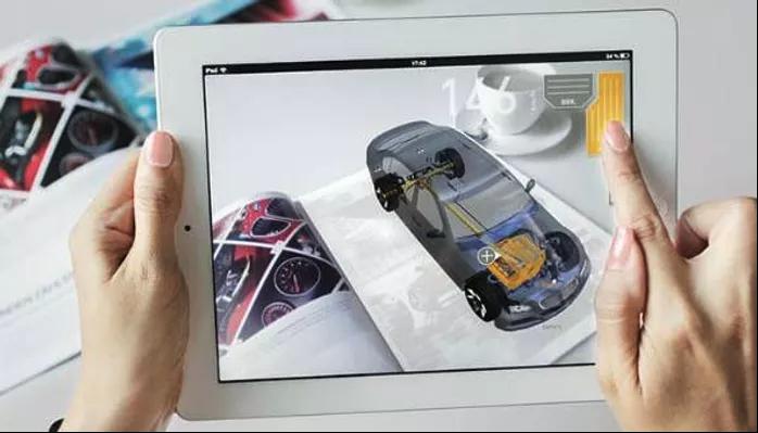 voiture en réalité augmentée